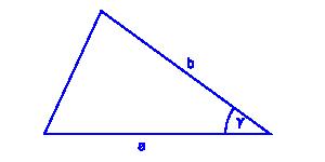 pole trójkąta dwa boki i sinus kąta między nimi